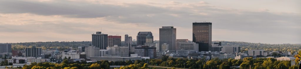 Dayton Ohio City Skyline 2021